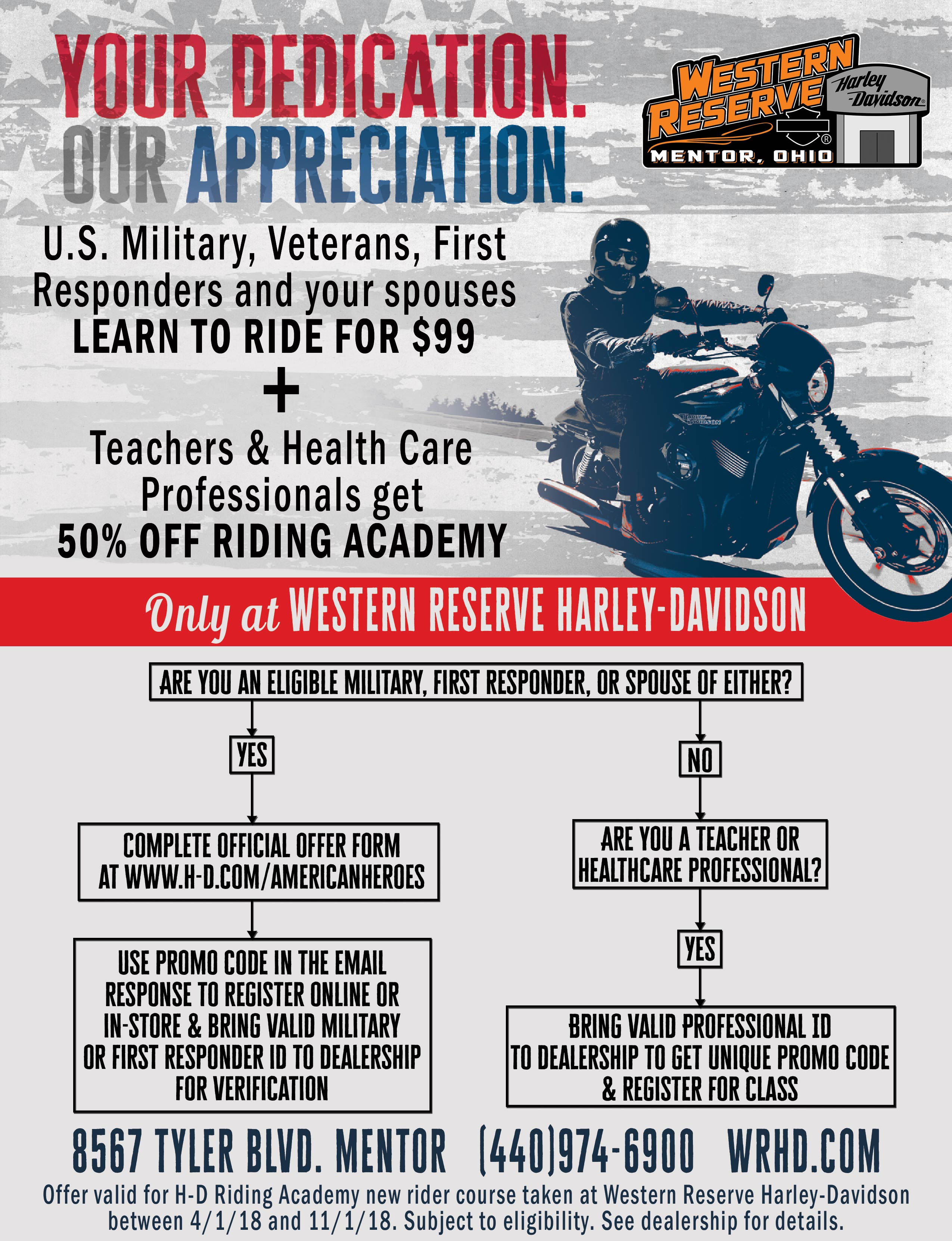 Riding Academy For Western Reserve Harley Davidson